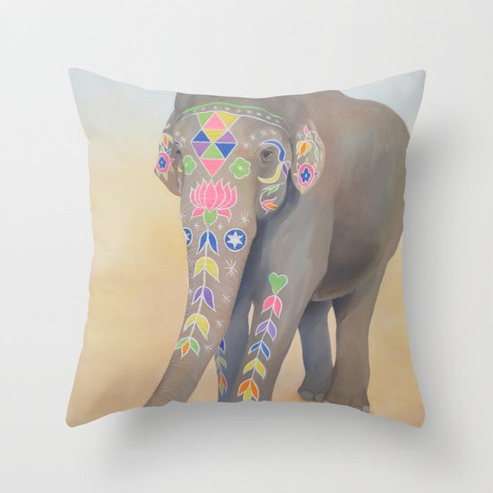 Painted Lady, Sujatha Throw Pillow