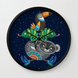 Animal Totem 6 Wall Clock