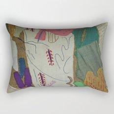 Bird on textures and patterns Rectangular Pillow