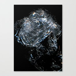 Clear Crumpled Plastic Canvas Print