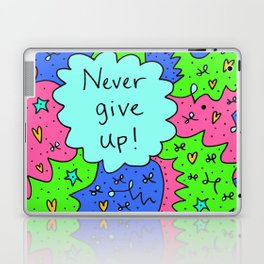 Never give up! Laptop & iPad Skin