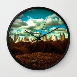 new york was once blue Wall Clock