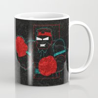 boxing Mugs featuring Boxing Gloves by subpatch