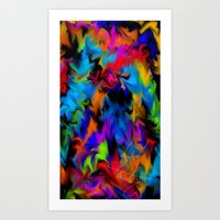 psychedelic art Art Prints featuring Psychedelic  by Lord Rukaj