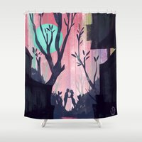 lovers Shower Curtains featuring Lovers by youcoucou