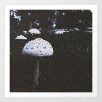 mushroom Art Prints featuring Mushroom by Monsters Ate My Brain