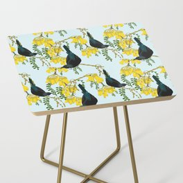 Tuis in the Kowhai Flowers Side Table