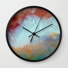 WaterColor MultiColor Print Wall Clock