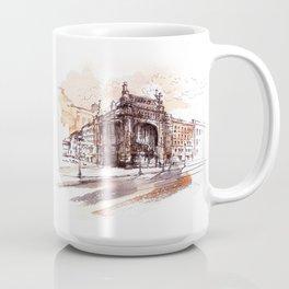 Art Nouveau building / watercolor and ink. Coffee Mug