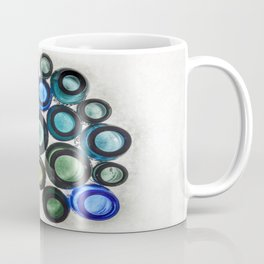 Bromo Seltzer Vintage Glass Bottles Top - Abstract Coffee Mug