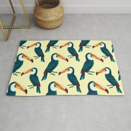 Tropical toucans pattern Rug