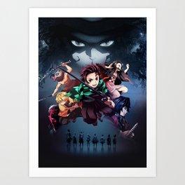 Blade of Demon Destruction Poster Art Print