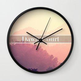Dawn Court Wall Clock