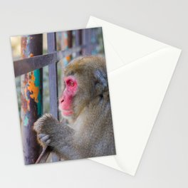 Pensive Snow Monkey Stationery Cards