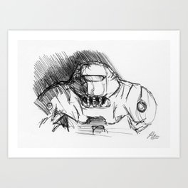 Warbot Sketch #046 Art Print