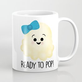 Ready To Pop - Popcorn Blue Bow Coffee Mug