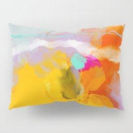 yellow blush abstract Pillow Sham