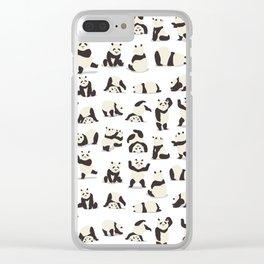 Pandas Party Clear iPhone Case
