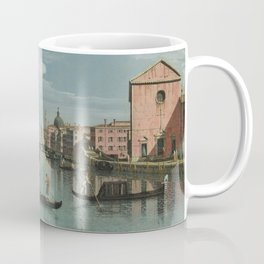 Venice: The Grand Canal facing Santa Croce by Bernardo Bellotto Coffee Mug