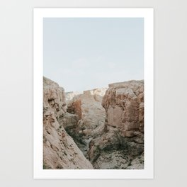 Soft Desert Canyonscape Art Print