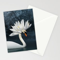 Tribal Swans Stationery Cards