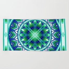 Sacred Places Green Beach Towel