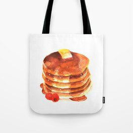 Pancake pile watercolor Tote Bag