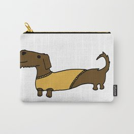 Dacshund with Sweater Carry-All Pouch
