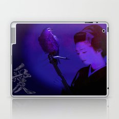 The geisha of Kyôto playing the shamisen for the night crow Laptop & iPad Skin