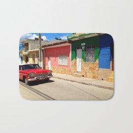 Cars in Cuba Bath Mat