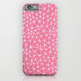 Connectivity - White on Pink iPhone Case