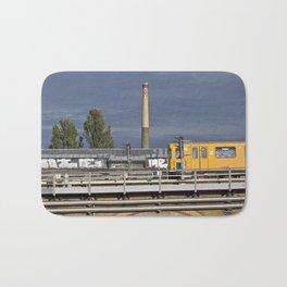 Yellow Train - Berlin Bath Mat