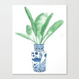 Ginger Jar + Bird of Paradise Canvas Print