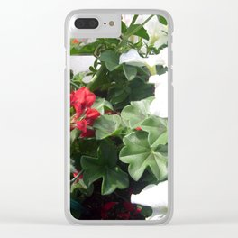 Pelargonien. Clear iPhone Case