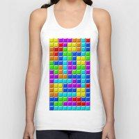 tetris Tank Tops featuring Tetris by Rebekhaart