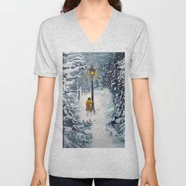 The Lamppost Unisex V-Neck