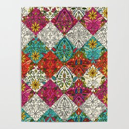 aziza patchwork Poster