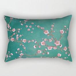 SAKURA LOVE - GREEN Rectangular Pillow