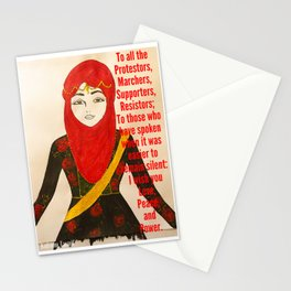Love, Peace, and Power Stationery Cards