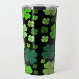 Saint Patrick's Day, Four Leafed Clovers - Green Travel Mug