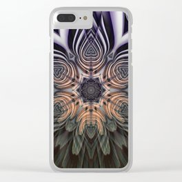 Dramatic transformation mandala Clear iPhone Case