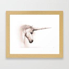 Unicorn Melancholy Framed Art Print