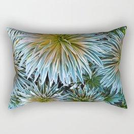 Star Plant Teal Rectangular Pillow