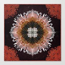 Gold Glitter Sacred Mandala Canvas Print