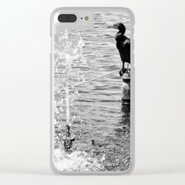 Bird at The Lake Clear iPhone Case