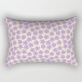 Lavender Flowers on Cream Rectangular Pillow