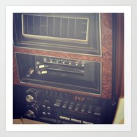 radio Art Prints featuring radio by awelartist