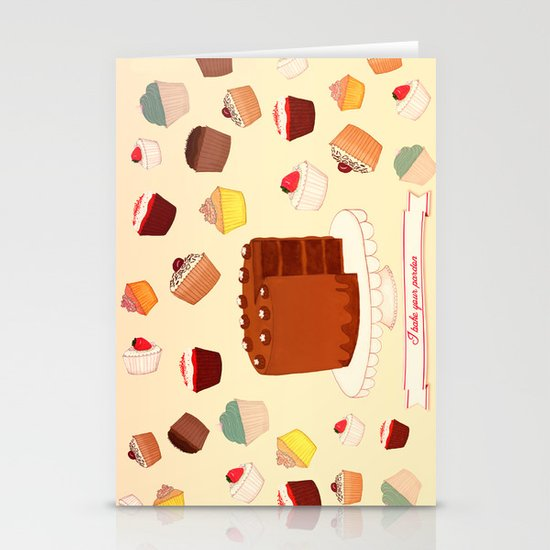 I Bake your Pardon! Stationery Cards