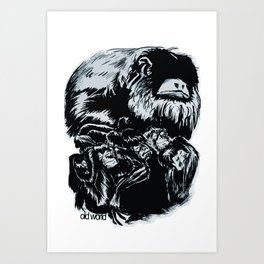 Old World Monkeys Art Print