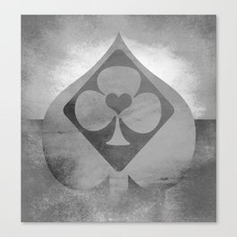 Full of Aces (Grey Version) Canvas Print
